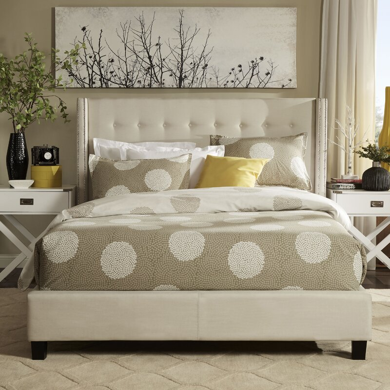 Willa arlo interiors gittan upholstered panel bed - Willa arlo interiors keeley bar cart ...