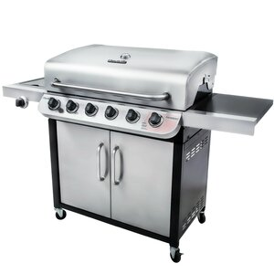 Performance 6-Burner Propane Gas Grill with Cabinet
