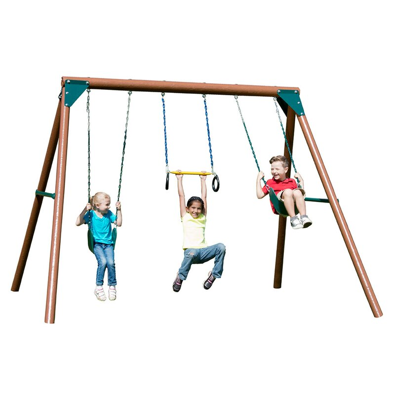 Swing N Slide Orbiter Swing Set Amp Reviews Wayfair