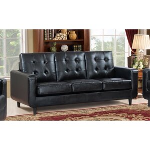Drouin Comfortable Sofa With Velvety Cushion