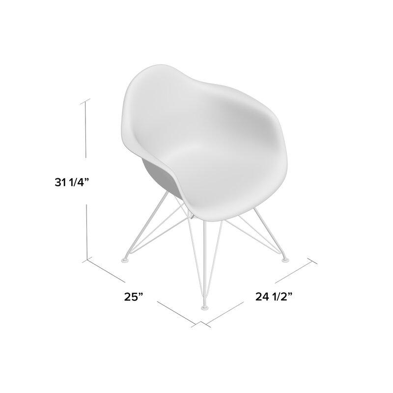Ressler Modern Plastic Dining Chair