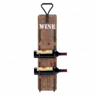 Dunigan 4 Bottle Wall Mounted Wine Rack