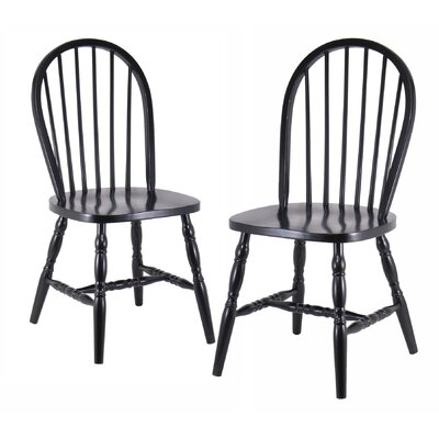 lamlam solid wood dining chair set of 2 - Wayfair Dining Chairs