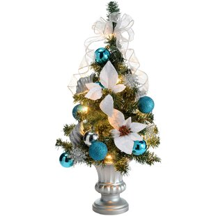 pre lit decorated christmas tabletop tree - Pop Up Decorated Christmas Tree