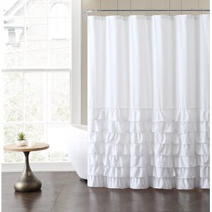 Wonderful Peeples Ruffle Shower Curtain