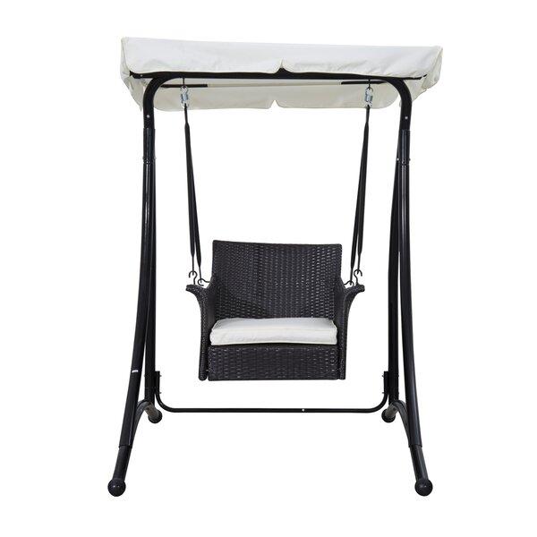 red barrel studio greenside rattan wicker chair hammock with stand wayfair