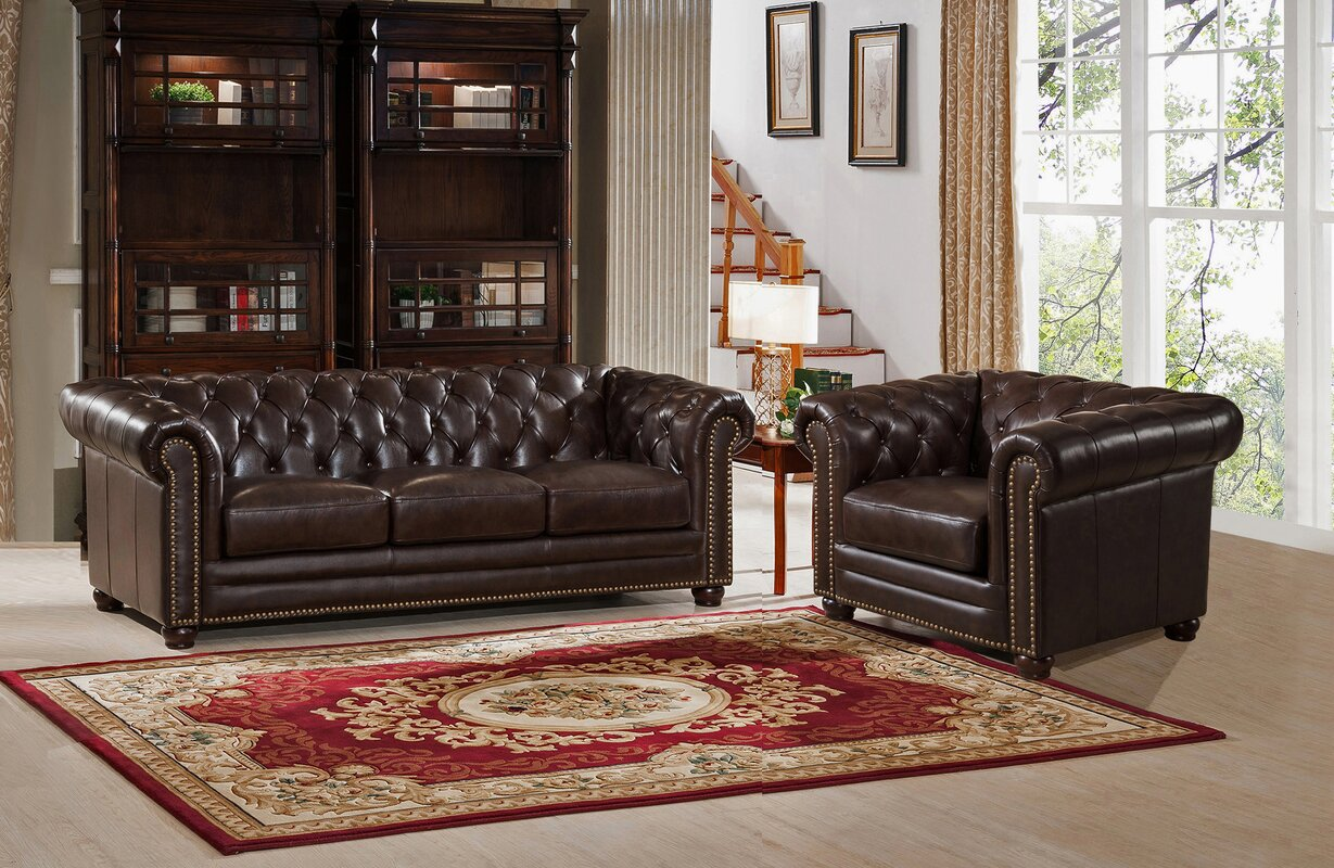Amax kensington 2 piece leather living room set reviews 2 piece leather living room set