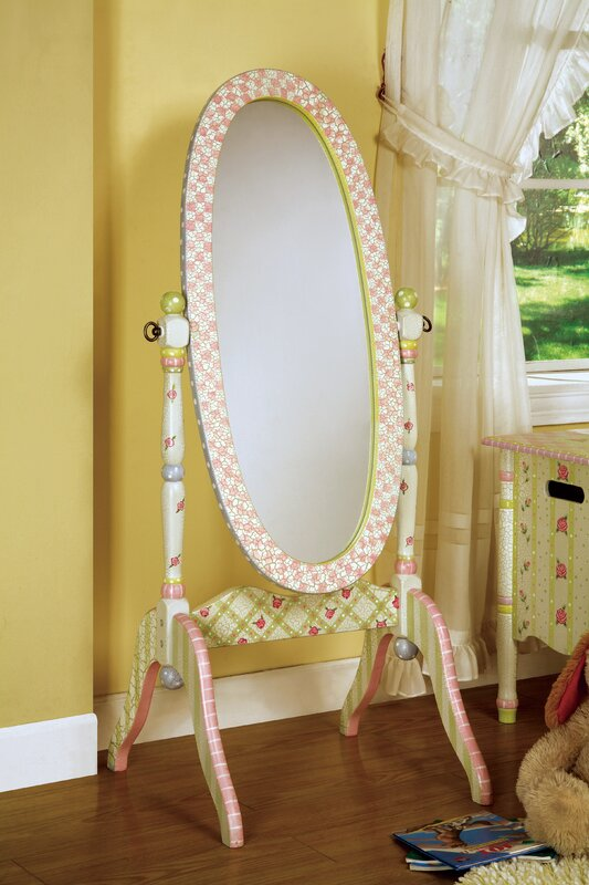 Crackled Rose Cheval Mirror