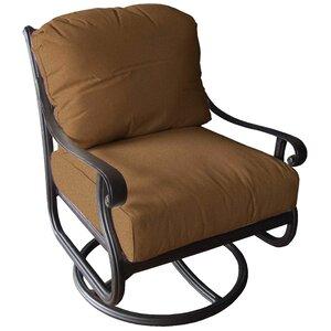 Edina Club Swivel Rocking Chair with Cushions