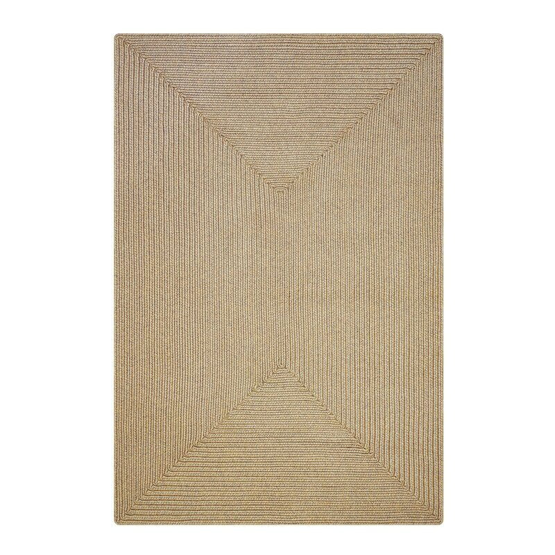 """Kyleigh Hand-Braided Brown Indoor/Outdoor Area Rug Rug Size: Oval 2'3"""" x 3'0.75"""" -  August Grove"""