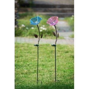 Flower LED Solar Garden Stake (Set Of 2)