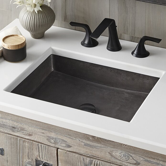 nipomo stone rectangular undermount bathroom sink