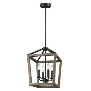 vintage farmhouse lighting. Natarsha 4-Light Lantern Pendant Vintage Farmhouse Lighting