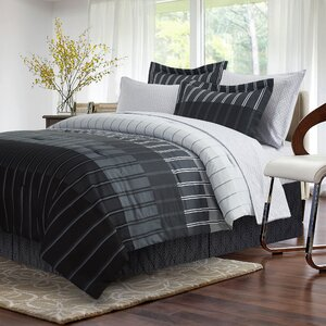 Chantalle Ombre Stripe 8 Piece Reversible Bed-In-a-Bag