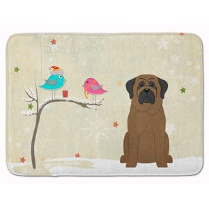 Christmas Presents Friends Bullmastiff Memory Foam Bath Rug