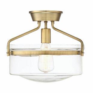 Flush mount lighting modern contemporary designs allmodern stratford 1 light semi flush mount aloadofball Choice Image