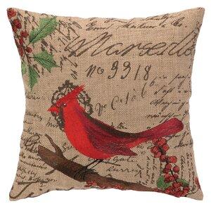 Cardinal Burlap Pillow
