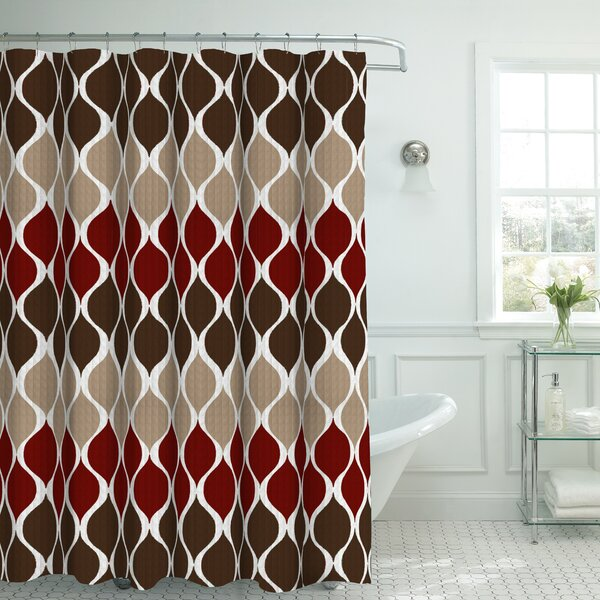 Andover Mills Danton Fabric Shower Curtain Set Reviews