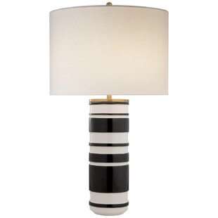 Charming Hayes Sculpted Cylinder Table Lamp