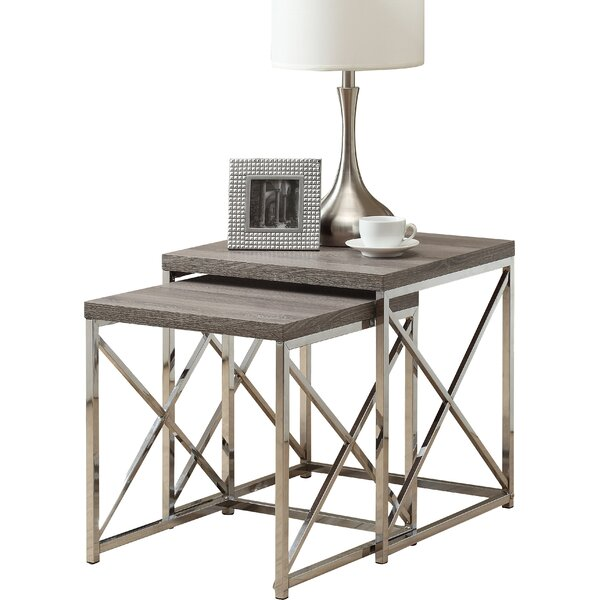 Nesting Tables mercury row baez 2 piece nesting table set & reviews | wayfair