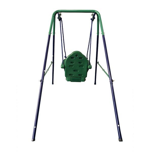 4e25cf814ed4 ALEKO Toddler Baby Swing Portable Indoor Outdoor Folding Safety ...