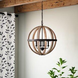 Caley 4 Light Globe Chandelier