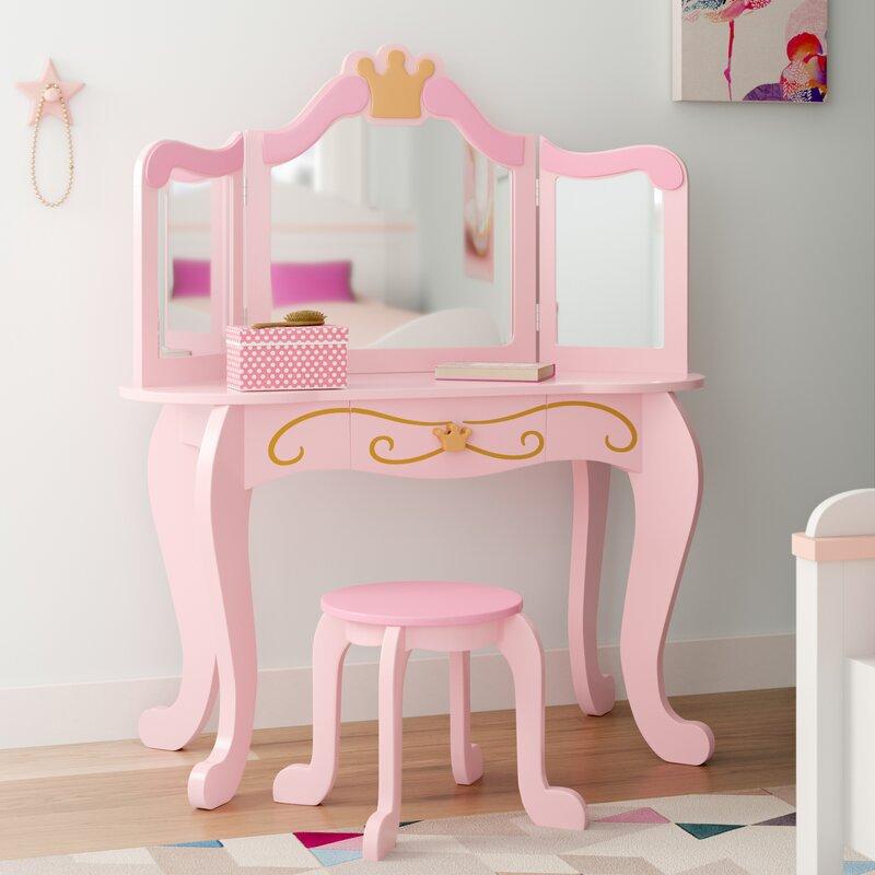 Kidkraft Princess Vanity Stool Reviews Wayfair Co Uk