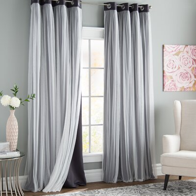 Gray And Silver Room Darkening Curtains Amp Drapes You Ll