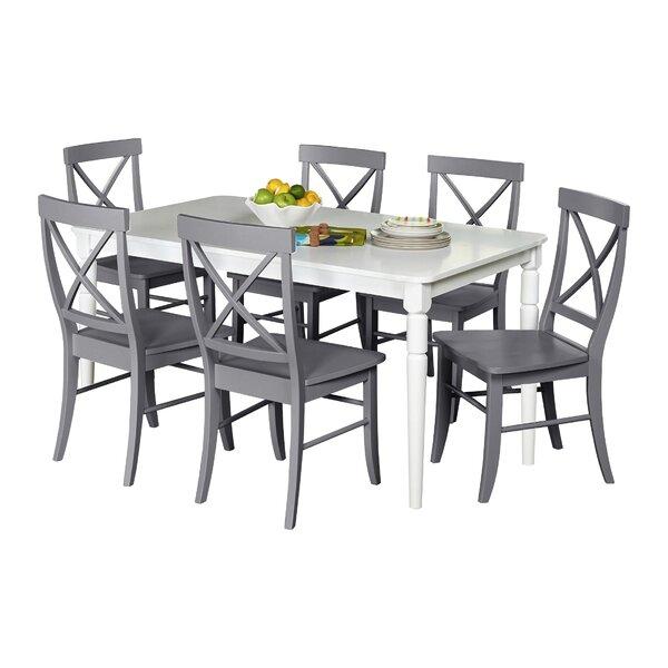 Beachcrest Home Brookwood 7 Piece Dining Set U0026 Reviews | Wayfair