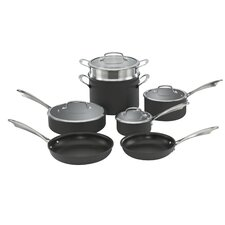 Dishwasher-Safe Hard-Anodized 11 Piece Non-Stick Cookware Set