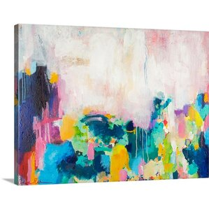 Sea Glassu0027 By Amira Rahim Painting On Wrapped Canvas