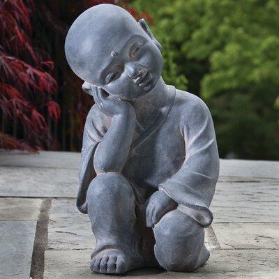Alfresco Home Thinking Buddha Statue