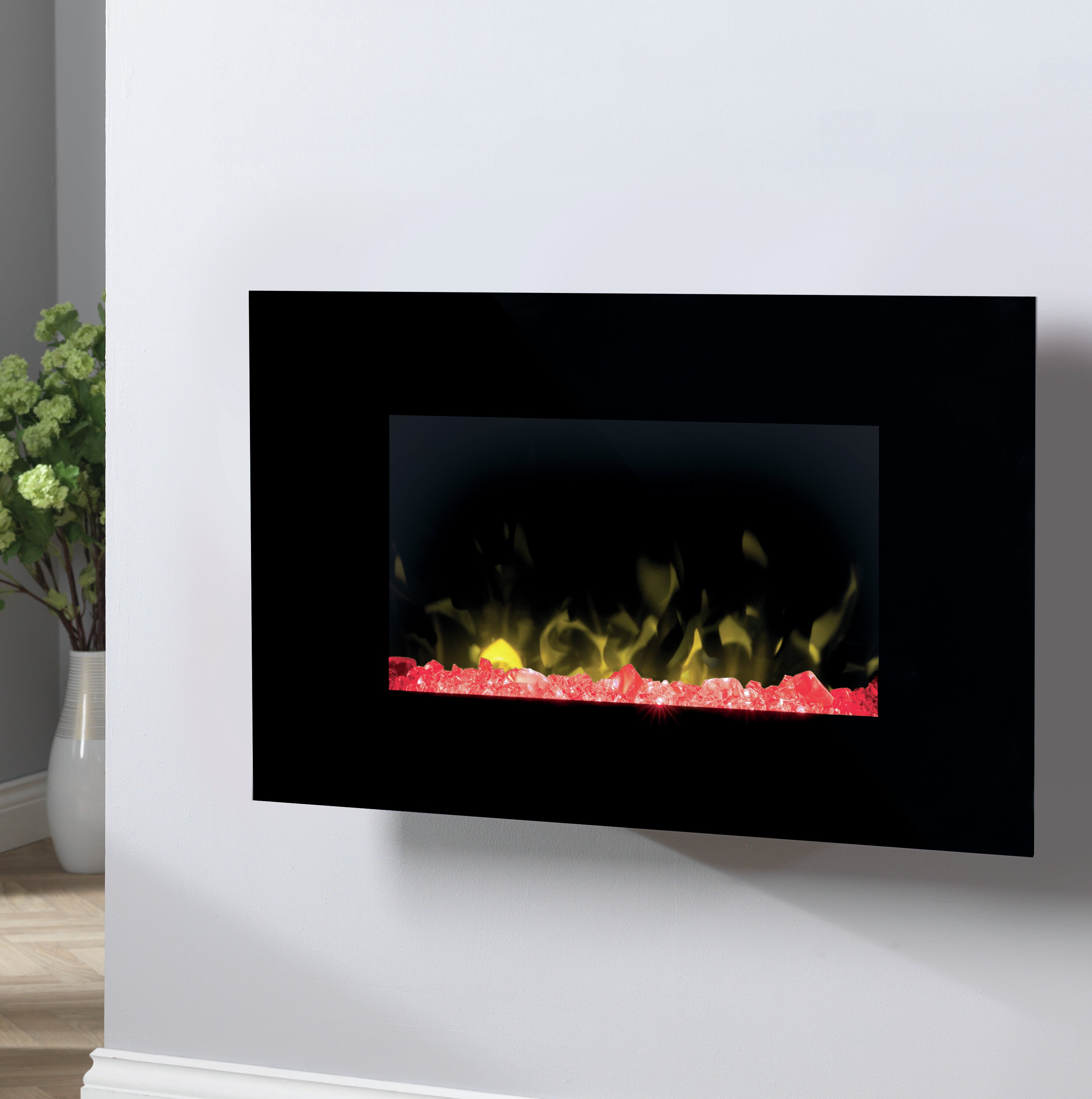 Toluca Glass Wall Optiflame Electric Fireplace