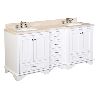 "Bathroom Vanities Set kbc nantucket 72"" double bathroom vanity set & reviews 