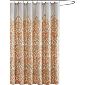 brown and orange shower curtain. Christena Cotton Shower Curtain Orange Curtains You ll Love  Wayfair