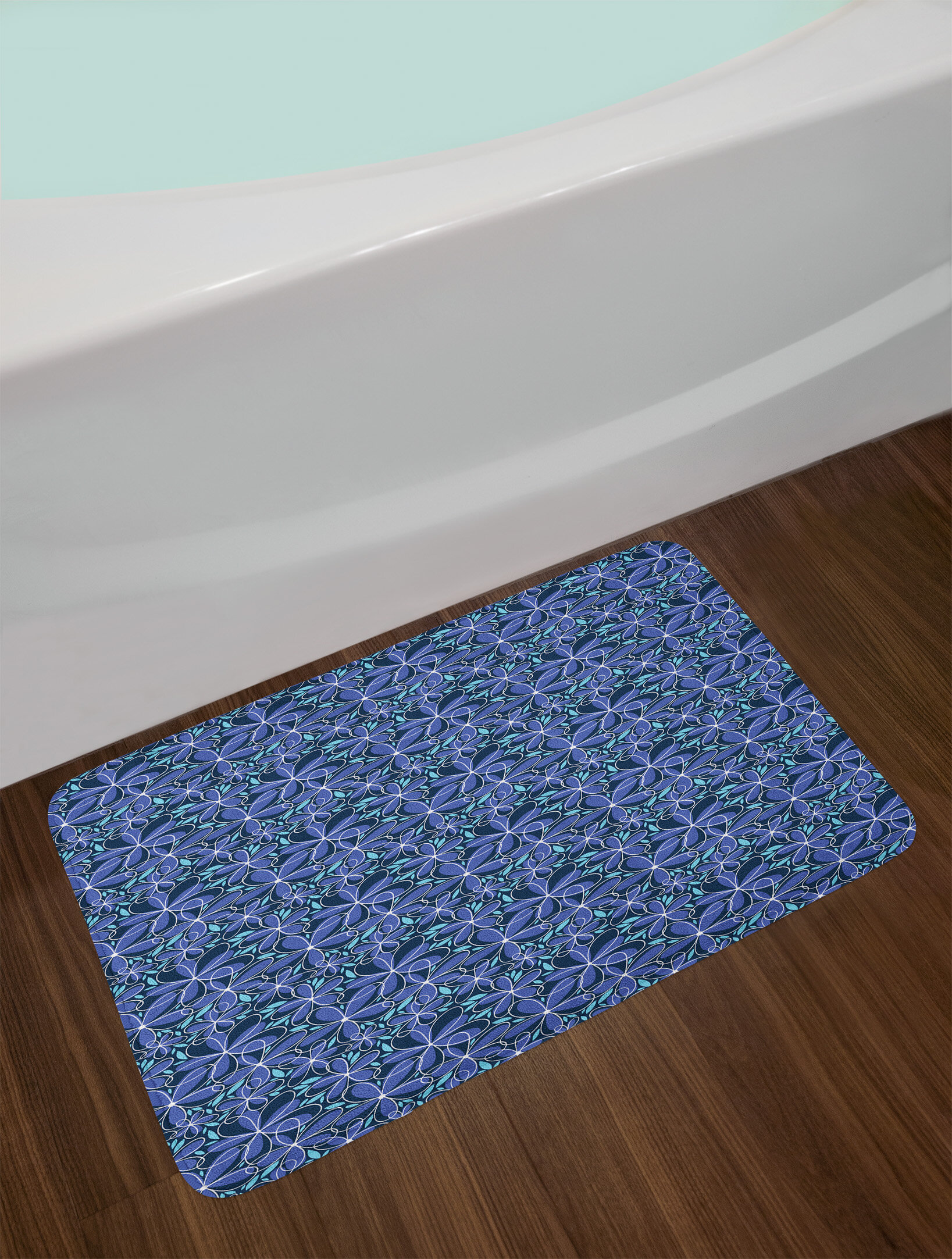 East Urban Home Ambesonne Doodle Bath Mat by, Daisy Blossoms in Hand ...