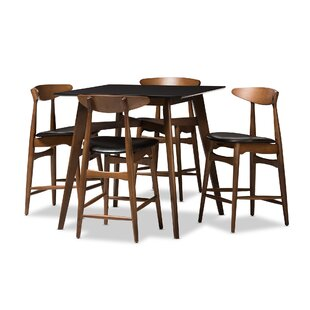 Diez Mid-Century 5 Piece Pub Table Set