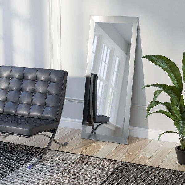 Industrial Wall Mirror wade logan industrial full length wall mirror & reviews   wayfair