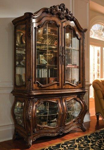 Michael Amini Palais Royale Lighted Curio Cabinet & Reviews ...