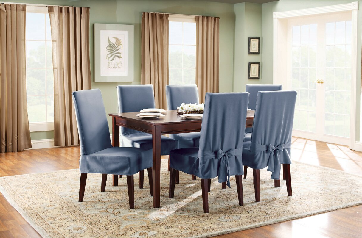 Sure Fit Cotton Duck Shorty Dining Chair Slipcover Reviews