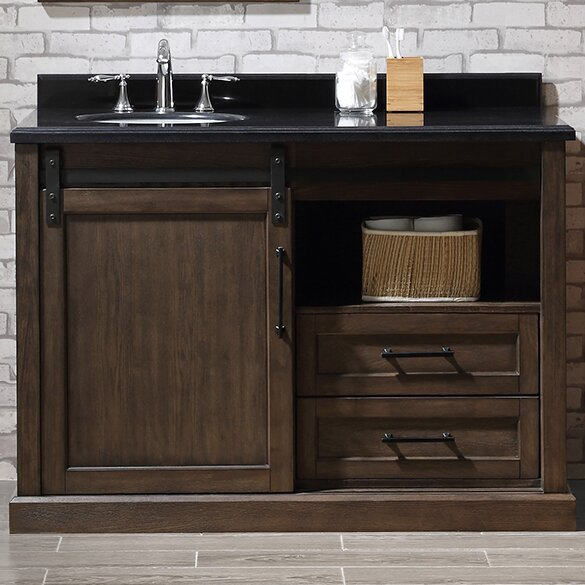 "Rustic Bathroom Vanity Set: Ove Decors Laredo 48"" Single Bathroom Vanity Set & Reviews"