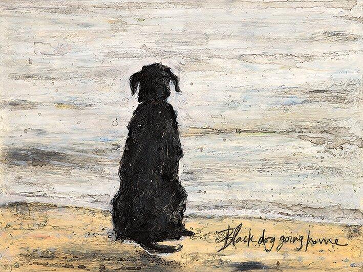 u0027black dog going homeu0027 by sam toft painting print on canvas u0027