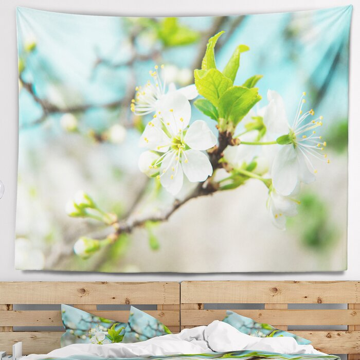Fl Beautiful Cherry Blossom And Spring Tapestry