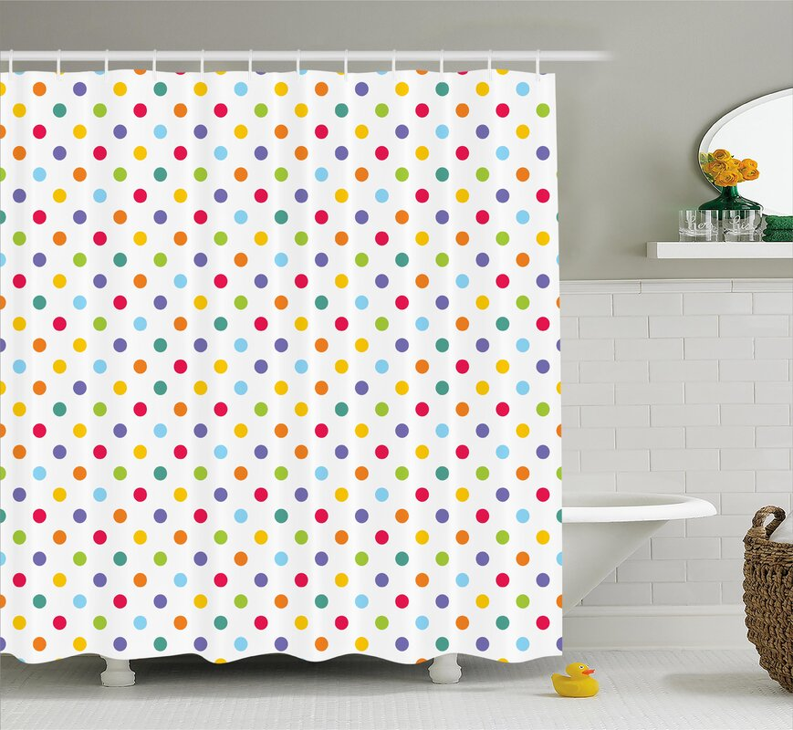 Charmant Bradford Colorful Polka Dots Shower Curtain
