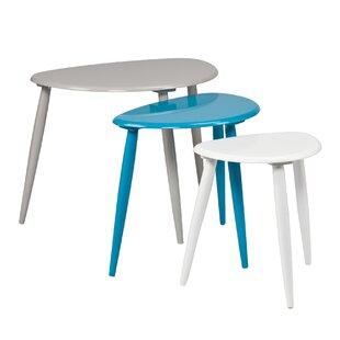 Ayres 3 Piece Nesting Table Set  sc 1 st  AllModern & Modern Nesting Tables | AllModern