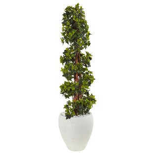 Artificial English UV Resistant Floor Ivy Topiary In Planter