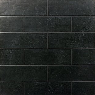 Piston Camp Rock 4 X 12 Porcelain Subway Tile In Black