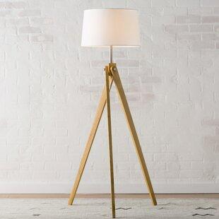 Tripod wood floor lamps youll love wayfair pelli 63 tripod floor lamp aloadofball Choice Image