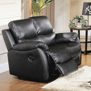 Brett Top Grain Leather Reclining Loveseat by Wildon Home ?