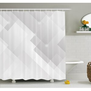 light gray shower curtain. Abstract Light Tones Featured Perspective Stripes Reflection Rays Artisan  Artwork Shower Curtain Set Modern Gray Silver Curtains AllModern